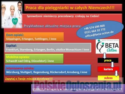 Praca dla pielęgniarki w całych Niemczech